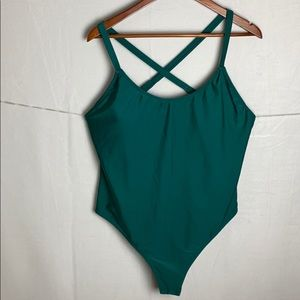 NWT Forever 21 teal one piece 2x